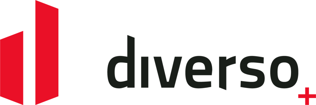 Diverso + | logo positief kleur